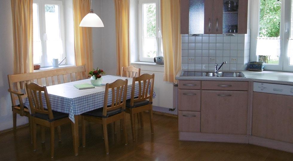 Wohnküche der Ferienwohnung von Familie Briegel