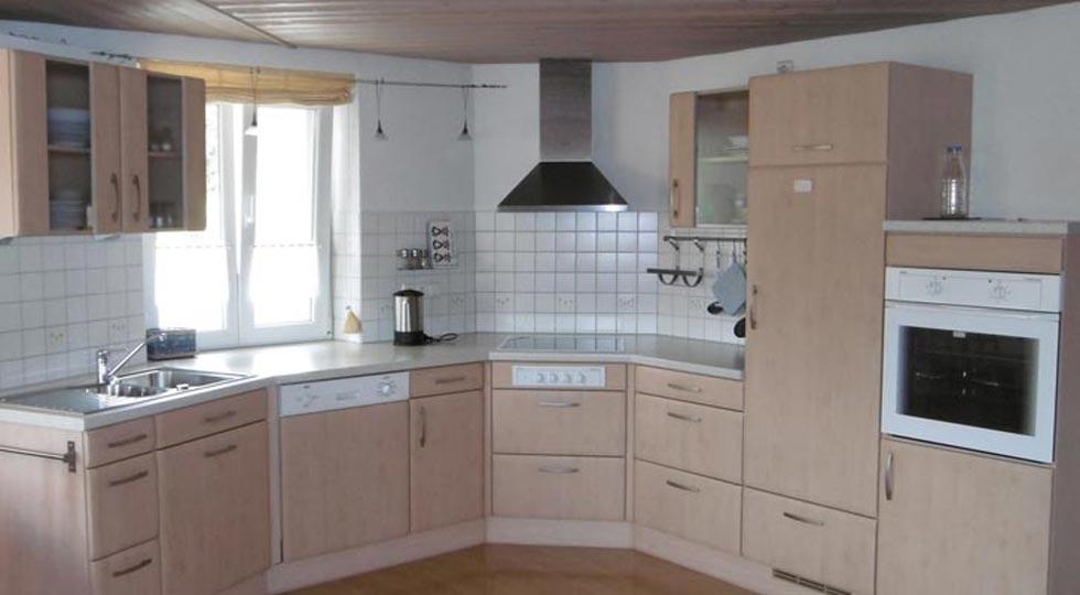 Küche der Ferienwohnung von Familie Briegel
