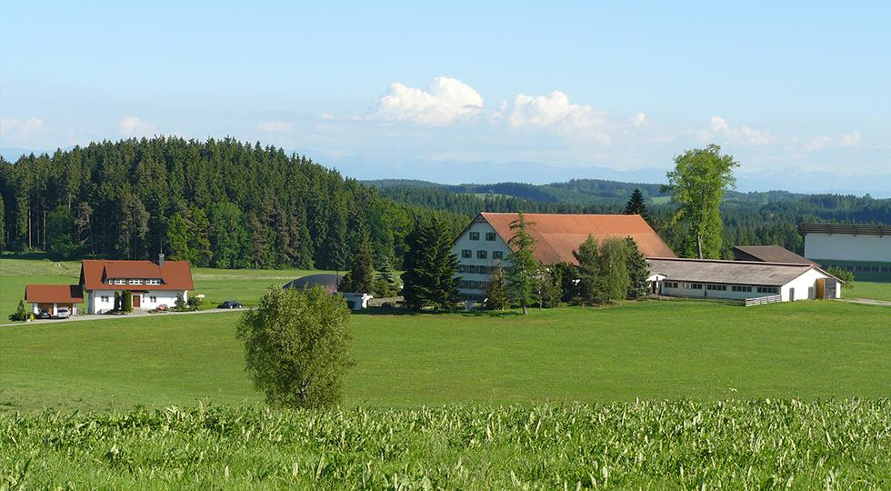 Landschaft beim Bauernhof der Familie Weiland