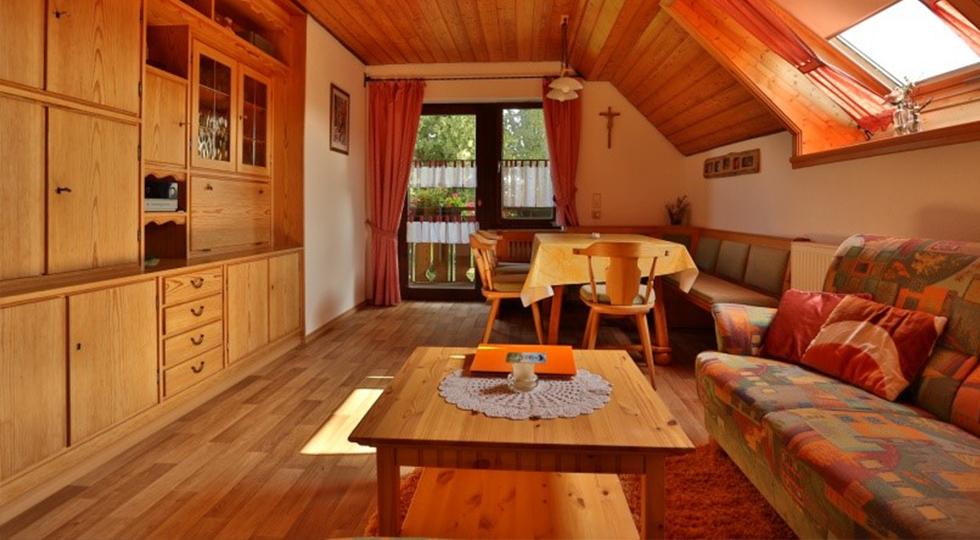 Wohnbereich der Ferienwohnung von Familie Strodel