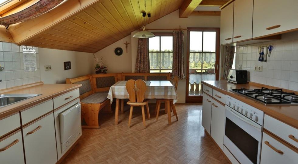 Wohnküche der Ferienwohnung von Familie Strodel