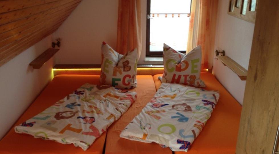 Schlafbereich der Ferienwohnung von Familie Strodel