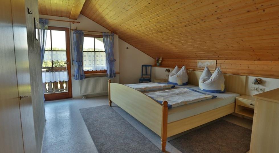 Schlafzimmer der Ferienwohnung von Familie Strodel