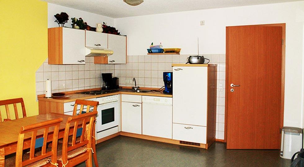 Küche einer Ferienwohnung von Familie Hahn