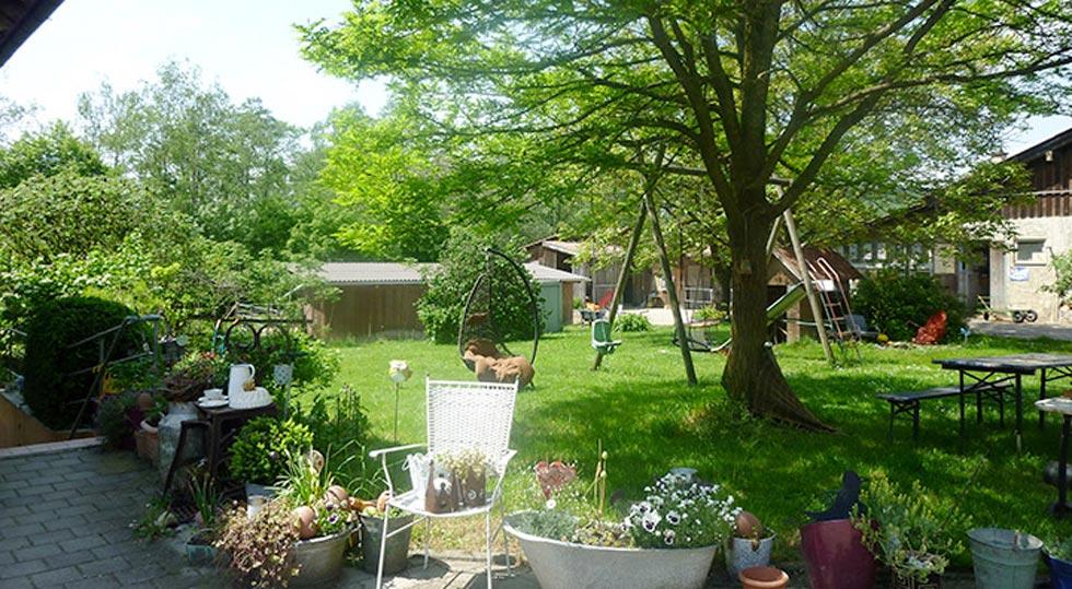 Garten der Ferienwohnung von Familie Hahn