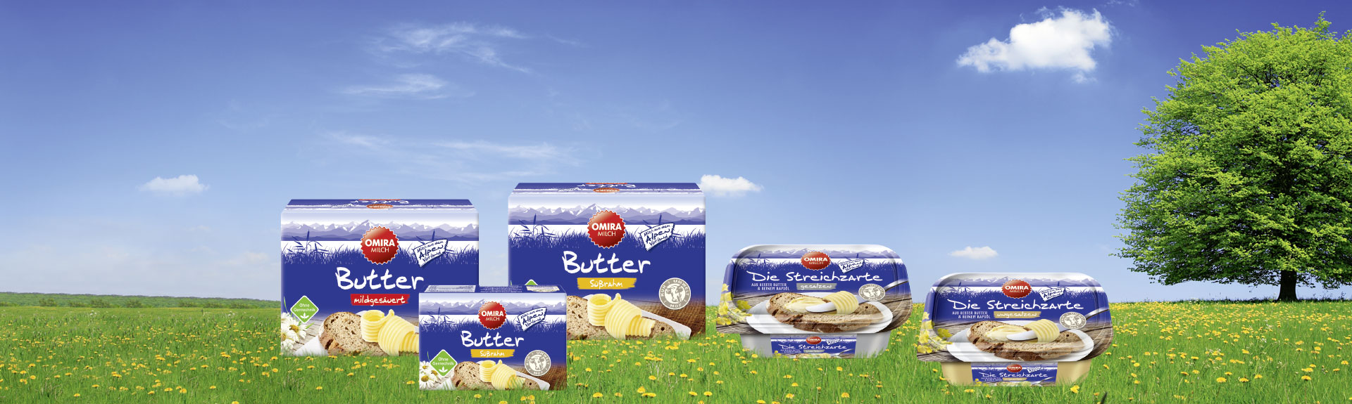 OMIRA Butter Produkte