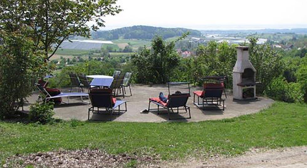 Ausblick vom Bauernhof der Familie Heiss