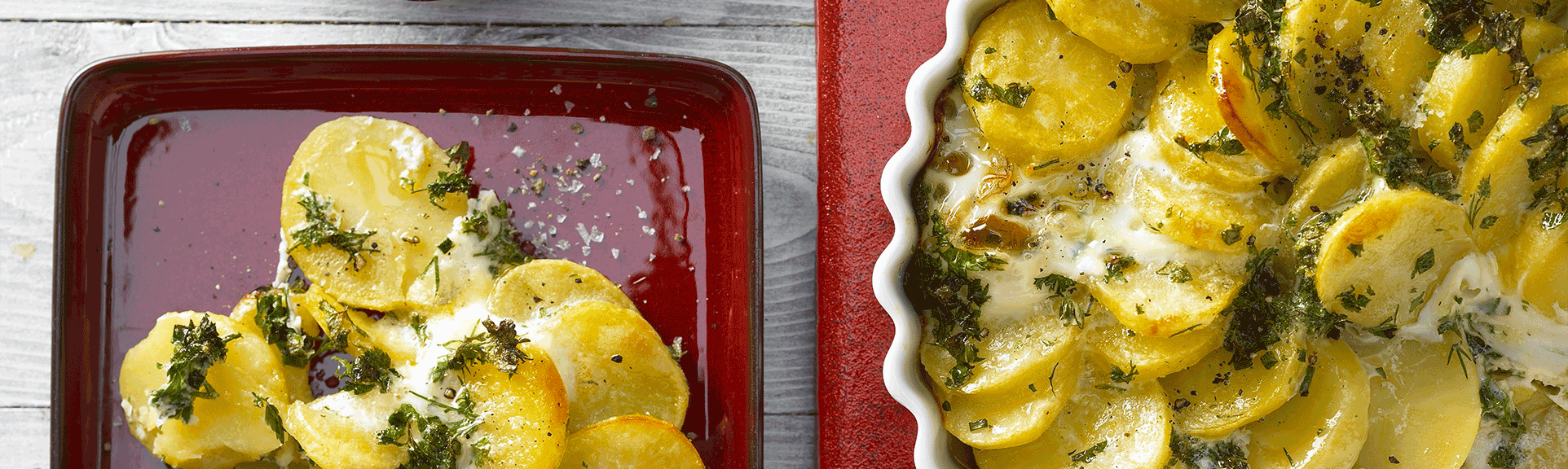 Headerabbildung des Rezeptes Kräuter-Kartoffel-Tarte mit Buttermilchquark