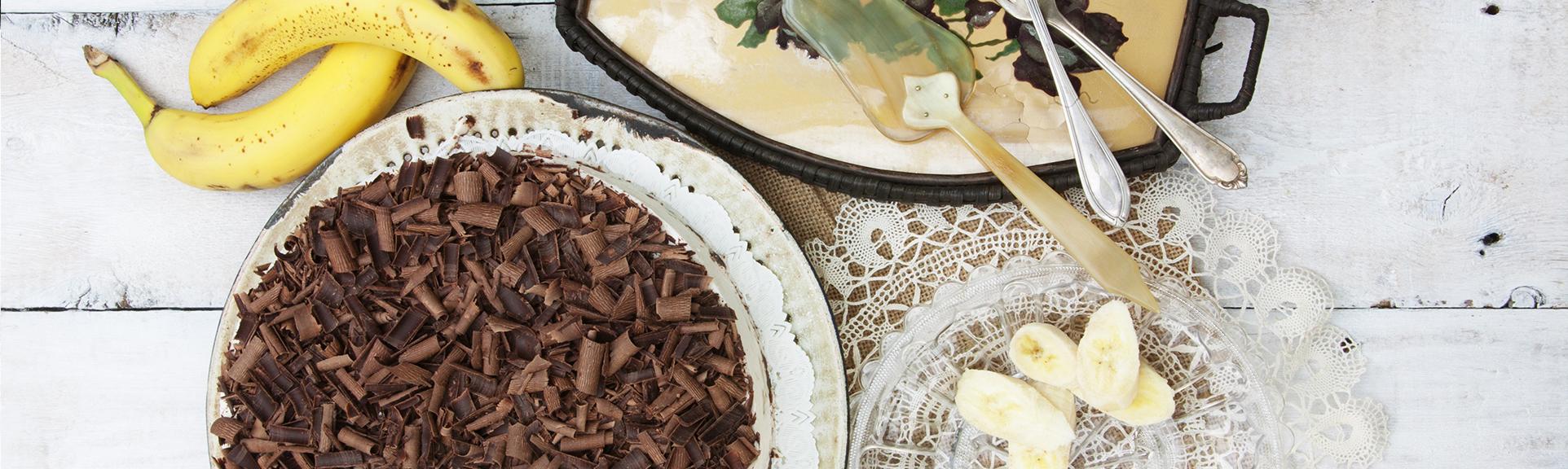 Headerabbildungen Bananen-Schokoladenkuchen